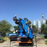 Truck mounted crane for forestry: our Z series
